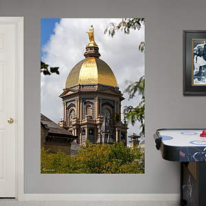 Notre Dame Golden Dome Mural Fathead Wall Decal